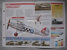 Aircraft of the World Card 10 , Group 14 - Hawker Fury