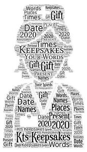word art picture personalised gift present keepsake nurse Nhs Thank You