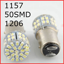 Long-lasting 12V LED Light White 1157 50SMD Car Tail Stop Brake Lamp Bulb