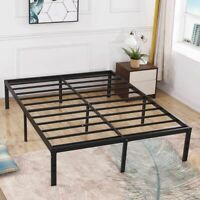 TATAGO 16 Inch Heavy Duty Metal Bed Frame California King Mattress Foundation US