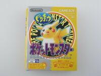 Pocket Monster Pikachu Nintendo Gameboy GB Used Japan Import 1998 NTSC-J Boxed