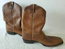 Frye USA Leather Boots Mens 11 D Square Toe 12 Inch Made In Mexico