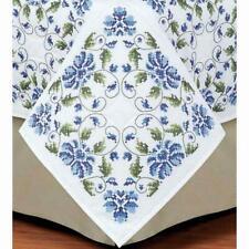 Herrschners® Garden in Blue Quilt Blocks Stamped Cross-Stitch