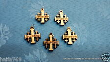 Lot 100 wood Jerusalem crosses for necklaces made in Israel Holy Land gift