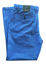 Tasso Elba Mens Blue Classic-Fit Stretch Pants 36x30