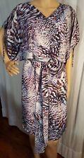 ESCADA Elegant 100% Silk Wrap Look Dress Size 38 (8 US) Fully Lined