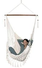 Hängestuhl bis 100 kg bequem Relaxen Baumwolle F001