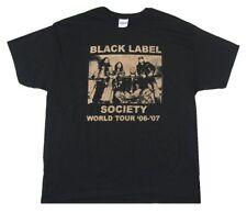 Black Label Society Vintage Tour 2006 2007 Black T Shirt New Official Zakk BLS