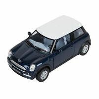 RI Novelty - Pull Back Die-Cast Metal Vehicle - MINI COOPER (Blue)(5 inch) - New