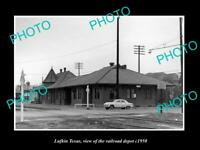 OLD POSTCARD SIZE PHOTO OF LUFKIN TEXAS THE RAILROAD DEPOT STATION c1950