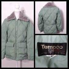 Tempco Down Coat Women's XL Mint Vintage 1970's, Faux Fur Collar Inv#S8967