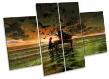 Canvas Music Orange Art Prints