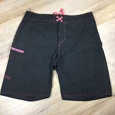 Under Armour Board Swim Shorts Black Pink Swimwear Trunks Men Size 36 Zip Pocket