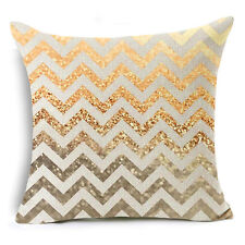 Bohemian Ethnic Geometric Cotton Linen Pillow Case Square Cushion Cover #11 Black Waves