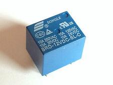 5x 12V Relais SRD-12VDC-SL-C | 250VAC 10A; 30VDC 10A | Leistungsrelais | 5 Stück