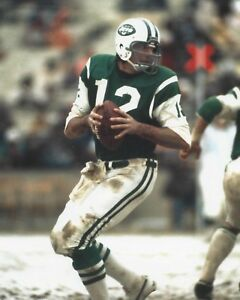 JOE NAMATH 8X10 PHOTO NEW YORK JETS NY COLTS PICTURE NFL FOOTBALL MUD & SNOW