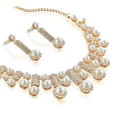 Pearl Crystal Alloy Costume Jewellery Sets