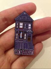 10   GRATEFUL DEAD DEAD HEAD  ORIGINAL 710 ASHBURY HOUSE OIL  CLOISSONE  PIN
