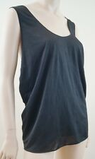 ACNE Women's Black Strappy Low Back Sleeveless Draped Evening Top 40 UK14