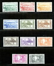 BRITISH NEW HEBRIDES 82-92, 1957 REGULARS (SCENES), MINT, OG, LH (NHB001)