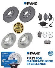 FOR AUDI A4 1.9 TDI B6 (2001-2004) 2 FRONT & 2 REAR BRAKE DISCS & PADS PAGID