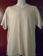 Kenneth Cole New York Men's Short Sleeve Ivory Shirt Size M