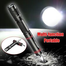 Portable CREE Q5 LED 1000 Lumens Hiking Camping Pen Flashlight Torch Knife