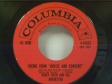 """PERCY FAITH """"THEME FROM ADVISE AND CONSENT / JACQUELINE'S JOURNEY"""" 45 MINT"""