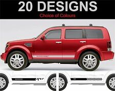 Dodge nitro side stripes stickers decals graphics both sides