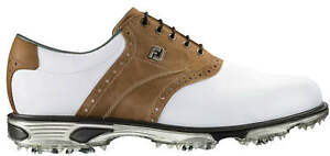 FootJoy DryJoys Tour Golf Shoes 53699 White/Bomber Taupe Men's New