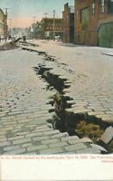 SAN FRANCISCO CA - Street Cracked by The Earthquake April 18, 1906 - udb