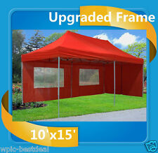 10'x20' Pop Up Canopy Party Tent EZ - Red - F Model Upgraded Frame