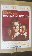 Jane Eyre Dzejn Ejr Sirotica iz Lovuda Original Yugoslavian Movie Poster 1970