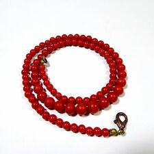 17,6 Taglia RED ART DECO CORALLI CATENA CORALLO CATENA elegante CORALLO CORAL NECKLACE
