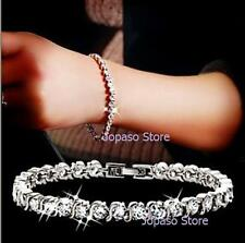 Platinum Plated Bracelet Crystal Swarvoski Elements Wedding Party Engagement