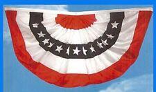 """USA American Flag SWAG BUNTING BANNER Nylon ~ 48"""" x 25"""""""