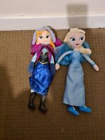 Disney Store Frozen Anna And Elsa Plush Dolls Collectables
