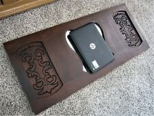 Architectural Embossed Carved Walnut Beveled Wall Mirror Victorian Coat Rack