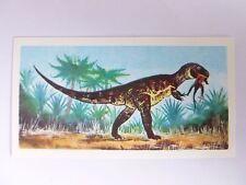 Brooke Bond Prehistoric Animals tea card 16. Megalosaurus. Dinosaurs.