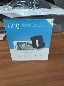 RING Spotlight Camera - Battery/Wireless/WiFi - Black Infrared 1080HD 2 Way Talk