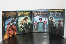 4-SET FIRST HARRY POTTER MOVIES DVDs Full-Screen Stone Secrets Fire Azkaban NEW