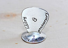 Sterling silver guitar pick and stand for anniversary