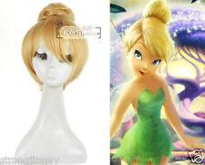 Princess Tinker Bell Tinkerbell Blonde Bun Cosplay Full hair Wig  R089