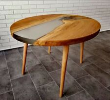 Sofá mesa Coffee Table epoxy epóxido resina madera mesa masivamente River Table masivamente