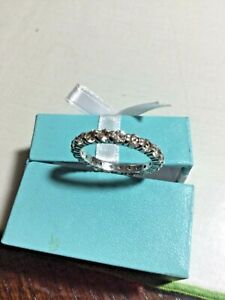 QVC   Sterling Silver 925  clear diamonique full eternity ring - Size O