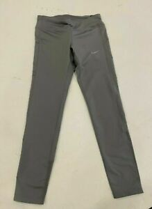 Nike Women's Tight Fit Running Tights Full Length Grey CD8212-056 New MSRP $60