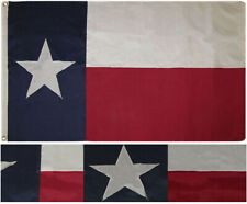 8x12 Ft Texas State Nylon Embroidered Sewn TX Lone Star Flag Double Sided Strong
