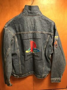 Crash Bandicoot Denim Jacket Promo Rare Vintage Jean Playstation PS1 1998 Size L