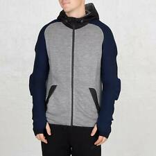 Nike Men's NSW Knit Full Zip Rare Label Grey Hoodie Sport Casual Formal