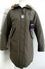 BLAUER USA Daunen Mantel Jacke Parka Damen mit Kapuze Grün Gr.L NEU mit ETIKETT